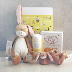 Hampers and Gifts to the UK - Send the Guess How Much I Love You Welcome Baby Gift Set
