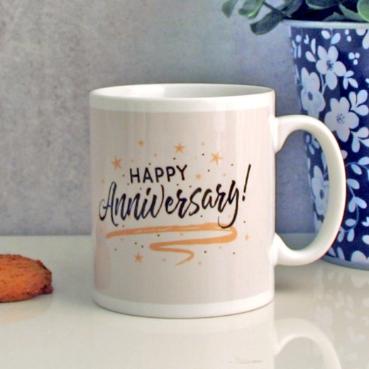 Hampers and Gifts to the UK - Send the Happy Anniversary Mug