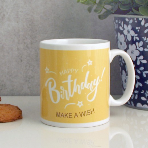 Hampers and Gifts to the UK - Send the Happy Birthday Make a Wish Mug