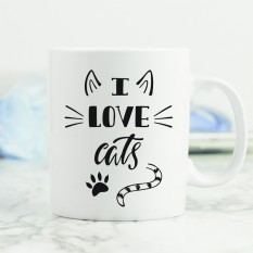 Hampers and Gifts to the UK - Send the I Love Cats Mug
