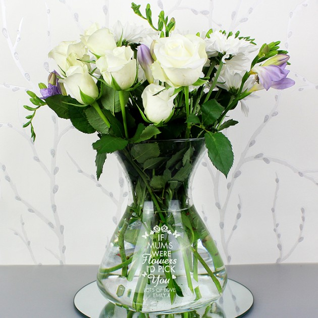 Hampers and Gifts to the UK - Send the Personalised Flower Vase - I'd Pick You