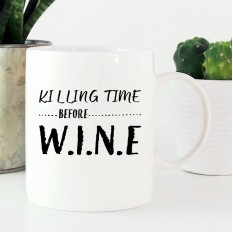 Hampers and Gifts to the UK - Send the Killing Time Before Wine Mug