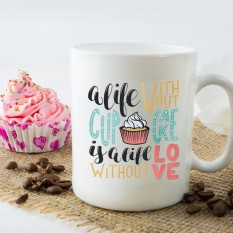Hampers and Gifts to the UK - Send the A Life Without Cupcake Mug