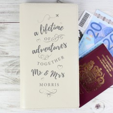 Hampers and Gifts to the UK - Send the Personalised Mr and Mrs Travel Holder
