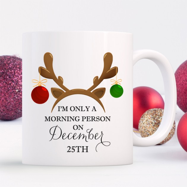 Hampers and Gifts to the UK - Send the Morning Person Christmas Mug