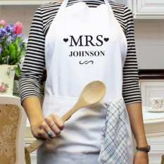 Hampers and Gifts to the UK - Send the Personalised Mrs White Apron