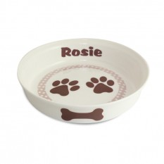Hampers and Gifts to the UK - Send the Personalised Dog Bowl - Brown Paws