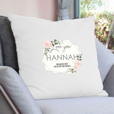 Hampers and Gifts to the UK - Send the Personalised Abstract Rose Cushion COVER