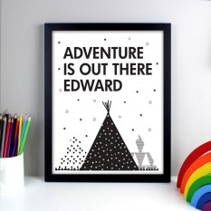 Hampers and Gifts to the UK - Send the Personalised Adventure Is Out There Framed Print