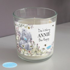 Hampers and Gifts to the UK - Send the Personalised Bee Themed Me to You Glass Candle