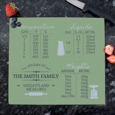 Hampers and Gifts to the UK - Send the Personalised Conversions Chopping Board