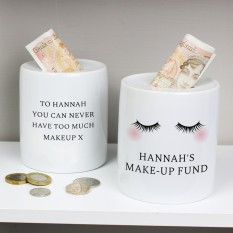 Hampers and Gifts to the UK - Send the Personalised Eyelashes Money Box