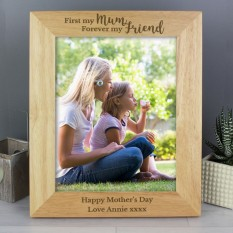 Hampers and Gifts to the UK - Send the Personalised 'First My Mum, Forever My Friend' Photo Frame