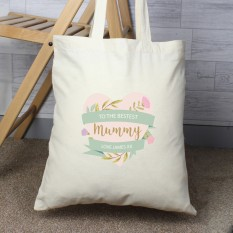 Hampers and Gifts to the UK - Send the Personalised Floral Mothers Day Tote Bag