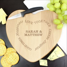 Hampers and Gifts to the UK - Send the Personalised Good Times Chopping Board