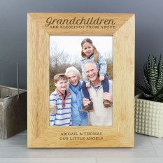 Hampers and Gifts to the UK - Send the Personalised Grandchildren are Blessings Photo Frame