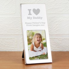 Hampers and Gifts to the UK - Send the Personalised I Heart Photo Frame