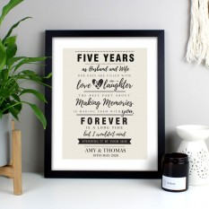 Hampers and Gifts to the UK - Send the Personalised Making Memories With You Framed Print