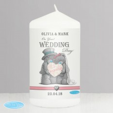 Hampers and Gifts to the UK - Send the Personalised Me To You Wedding Candle
