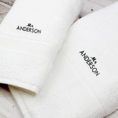 Hampers and Gifts to the UK - Send the Personalised Mr Towel Set