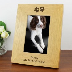 Hampers and Gifts to the UK - Send the Personalised Paw Prints Photo Frame