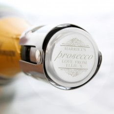 Hampers and Gifts to the UK - Send the Personalised Prosecco Bottle Stopper