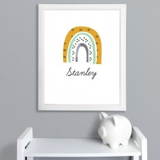 Hampers and Gifts to the UK - Send the Personalised Rainbow Green Framed Print