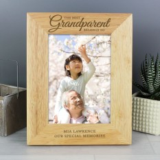 Hampers and Gifts to the UK - Send the Personalised 'The Best Grandparent Belongs To' Photo Frame