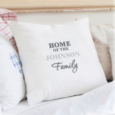 Hampers and Gifts to the UK - Send the Personalised The Family Cushion COVER