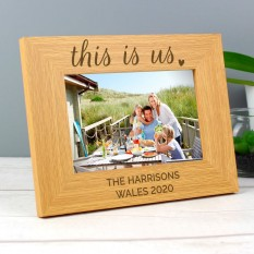 Hampers and Gifts to the UK - Send the Personalised This is Us Family Photo Frame