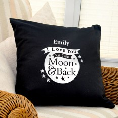 Hampers and Gifts to the UK - Send the Personalised To the Moon and Back Cushion COVER