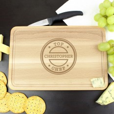 Hampers and Gifts to the UK - Send the Personalised Top Chef Chopping Board