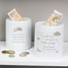 Hampers and Gifts to the UK - Send the Personalised Twinkle Twinkle Money Box