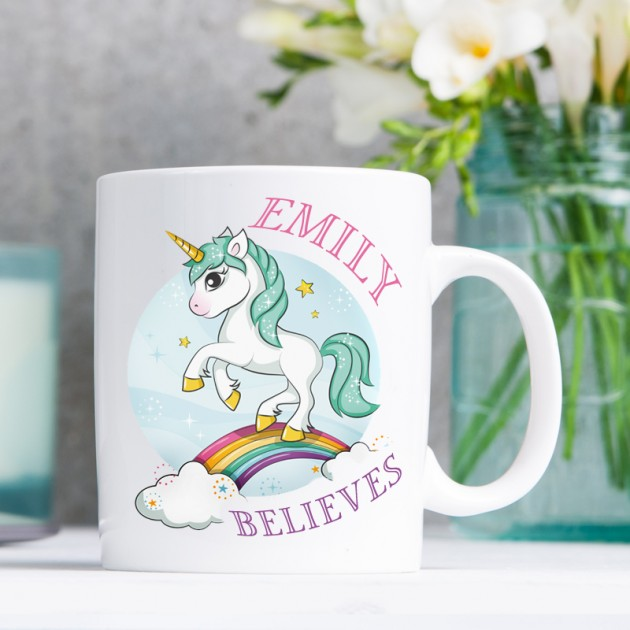 Hampers and Gifts to the UK - Send the Believes in Unicorns Mug
