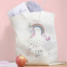 Hampers and Gifts to the UK - Send the Personalised Unicorn Tote Bag