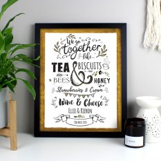 Hampers and Gifts to the UK - Send the Personalised We Go Together Framed Print