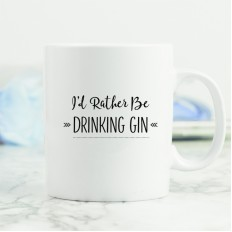 Hampers and Gifts to the UK - Send the I'd Rather Be ... Drinking Gin Mug
