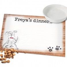 Hampers and Gifts to the UK - Send the Personalised Dog Place Mat - Puppy Paws