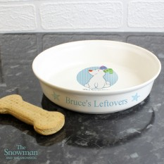 Hampers and Gifts to the UK - Send the Personalised Dog Bowl - Blue Snowdog