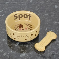 Hampers and Gifts to the UK - Send the Personalised Dog Bowl - Spot