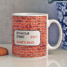 Hampers and Gifts to the UK - Send the Personalised Street Name Mug