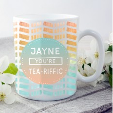 Hampers and Gifts to the UK - Send the Personalised You're Tea-rrific Mug
