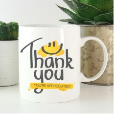 Hampers and Gifts to the UK - Send the Thank You You're Appreciated Mug