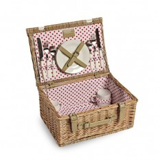 Hampers and Gifts to the UK - Send the Polka Dot Picnic Basket - 2 Person