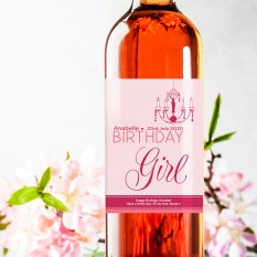 Hampers and Gifts to the UK - Send the Birthday Girl Wine Gift