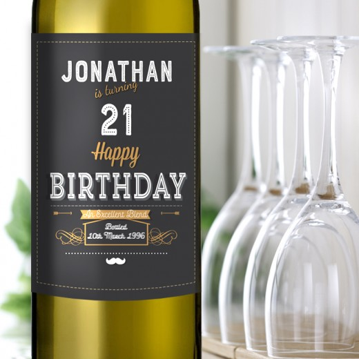 Hampers and Gifts to the UK - Send the Turning 21 and Birthday Wine Gift