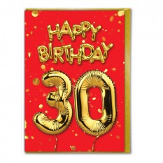 Hampers and Gifts to the UK - Send the Happy Birthday 30 Card