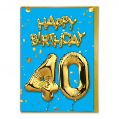 Hampers and Gifts to the UK - Send the Happy Birthday 40 Card