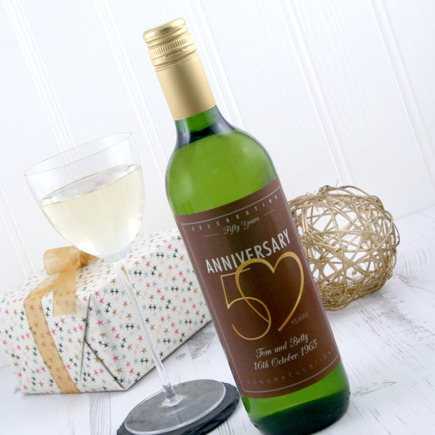 Wine Wedding Gifts: 50th Wedding Wine Gift To Celebrate A Golden Anniversary