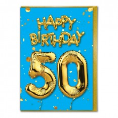 Hampers and Gifts to the UK - Send the Happy Birthday 50 Card